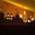 Световое украшение в баре