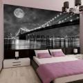 Подсветка ночного города в спальне