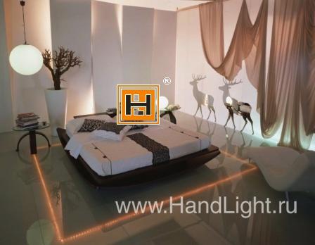 LED подсветка стенных панелей и пола